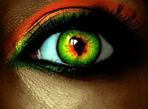 Africa in your eye.  Your eye on Africa