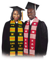 Young Black people graduating